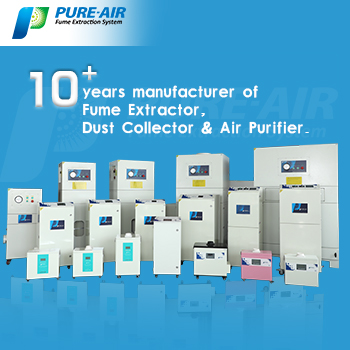 To Protect The Health of Employee in The Workshop, Choose PURE-AIR Laser Fume Extractor!