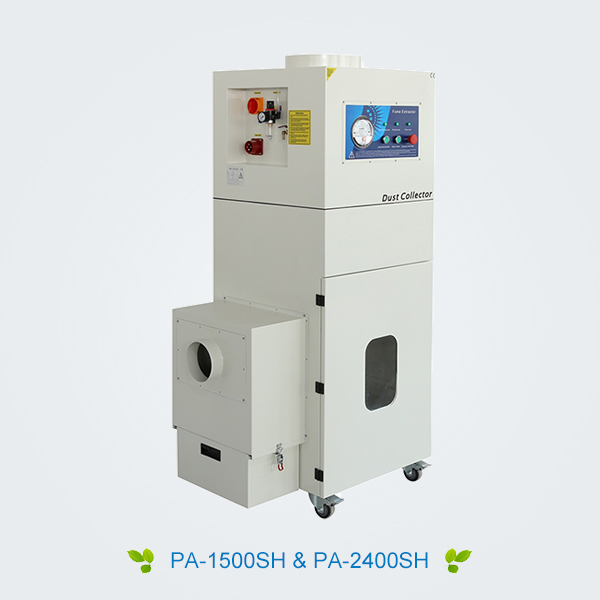 Metal laser cutting/cladding /hardening dust collector (manual)