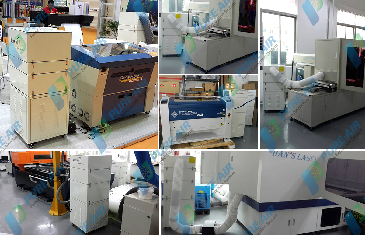 Metal laser cutting&cladding &hardening dust collector (manual)